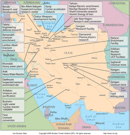 Iran nuclear sites