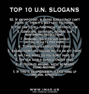 "<img source=""http://arirusila.files.wordpress.com/2011/06/unslogans.jpg?w=296&h=314"" alt=""UN slogans.""</img>"