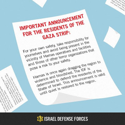 IDF leaflets during Gaza operation