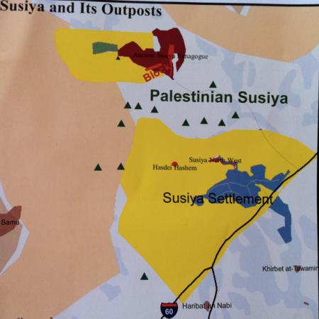 map, susya, israel