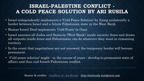 Cold-Peace-Solution by Ari Rusila