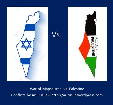 War of maps israel vs palestine conflicts by ari rusila geopolitics and information war for example by de legitimising some country or even wiping its existence from schoolbooks at least conflicting maps can gumiabroncs Images