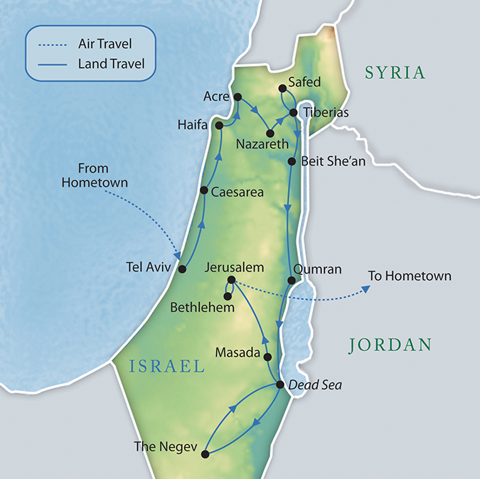 War of Maps Israel vs Palestine – Tourist Map of Israel