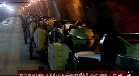 Iran keeps its ballistic missiles in underground bunkers