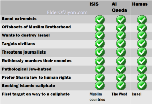 Some similarities: Hamas-Hizbollah-ISIS