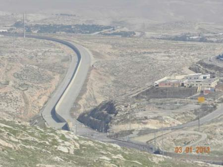 "A completed section of the Palestinian bypass road. Its final completion will enable transportation continuity between the northern and southern West Bank, similar to other existing ""fabric of life"" roads built for the Palestinians. Credit: JCPA"