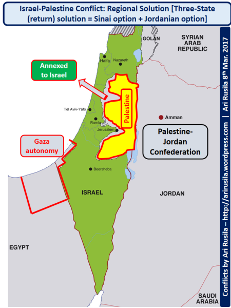 Palestine-Jordan confederation, Three-state option